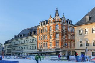 Auf dem Marktplatz von Annaberg