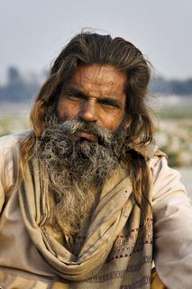 Sadhu, heiliger Mann, Nordindien, Indien, Asien - Sadhu saint man, North India, India, Asia
