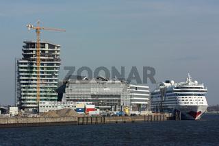 Hafencity mit der AIDAluna