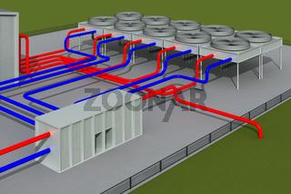 Geothermieanlage