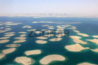 Dubai The World Welt Insel Inseln Panorama Burj Khalifa Luftaufnahme Luftbild