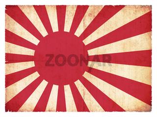Grunge flag of the Japan marine
