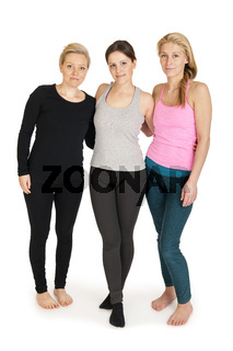 three female Yoga athletes