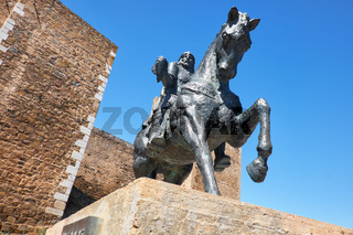 Equestrian statue of Ibn Qasi,  governor of the taifa kingdom of Mertola. Portugal