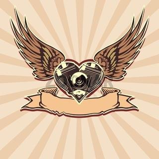 motobikers simbol motorheart