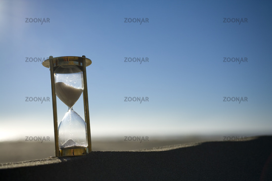 Sand Timer on a Sand Dune