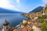 Beliebtes Reiseziel, Limone am Gardasee, Brescia, Lombardei, Italien