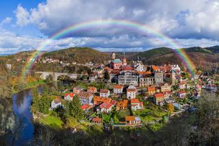 Rainbow in Castle Loket - Czech Republic