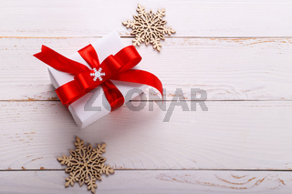 Christmas white gift box