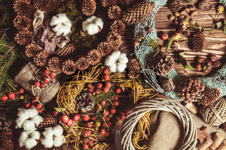 Nature wreath making