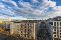 Aerial View from the Kolingasse to the famous St Stephens Cathedral of Vienna