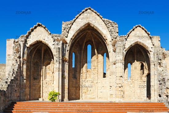 Church of Panagia tou Bourgou in Rhodes, Greece
