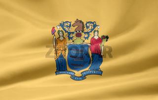 Flagge von New Jersey - USA