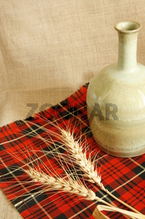 Ceramic jar and wheat composition
