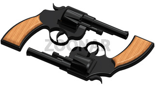 3D image of two revolvers
