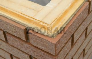Wärmedämmung an einer Außenwand Thermal insulation of a brickwal