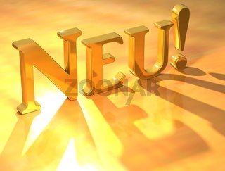 Neu Gold Text
