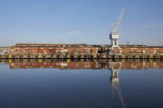 Lübeck, Wasserspiegelung an der Untertrave