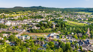 above view of Gerolstein town in summer day