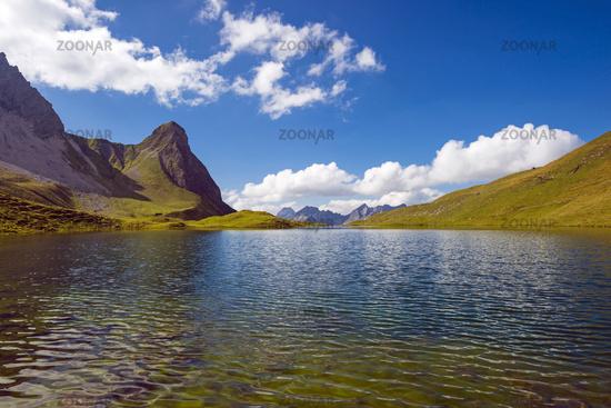 Rappensee, dahinter Kleiner Rappenkopf, 2276m, Allgäuer Alpen, Allgäu, Bayern, Deutschland, Europa