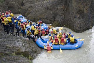 Rafting in Schlucht