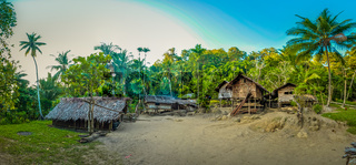 Wooden houses in Papua