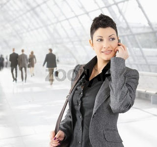 Businesswoman talking on mobile