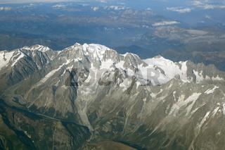 Montblanc Mont Blanc Berg Frankreich Alpen Berge Luftbild