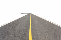asphalt road isolated