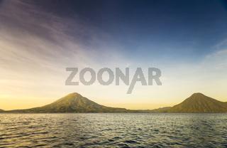 Volcanoes on Lake Atitlan, Guatemala
