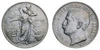 Two Lire Silver Coin 1911 fiftieth anniversary Vittorio Emanuele III Kingdom of Italy