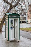 Alte Telefonzelle in Pilsen (Tschechien)
