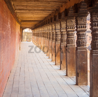 Bhaktapur Durbar Square Repeating Columns Hall H