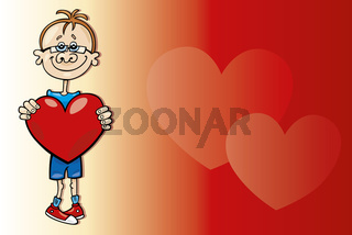 Boy with big heart