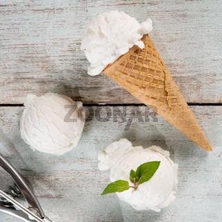 yoghurt ice cream cone