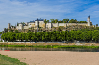 Chinon castle in the Loire Valley - France