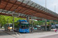 Busbahnhof in Magdeburg (Sachsen-Anhalt)