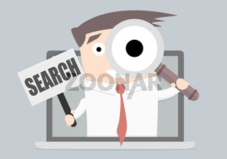 Businessman laptop Search