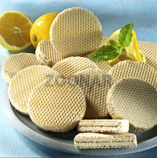 wafer with lemon