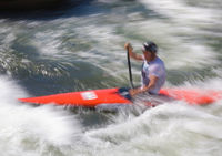 Wildwasser-Slalom, Typical/Impression, mitgezogen/verwischt