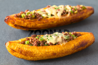 Stuffed Baked Ripe Plantain