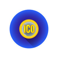 initial coin offering symbol icon