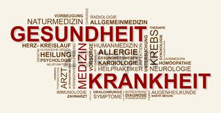 Wortwolke zu Gesundheit und Krankheit