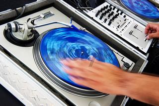 DJ spinning records