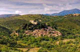 Castelnou - old village Castelnou in France