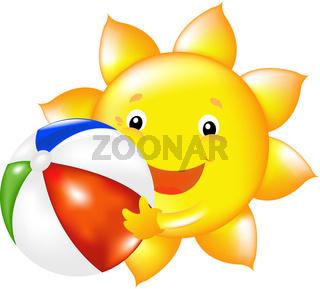 Sun With Beach Ball