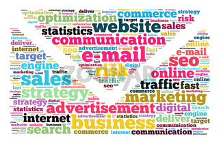 E-mail word cloud concept