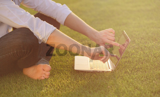 Freelancer in the park