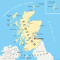 Unabhängiges Schottland Landkarte