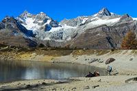 Am Grüensee, Zermatt, Wallis, Schweiz
